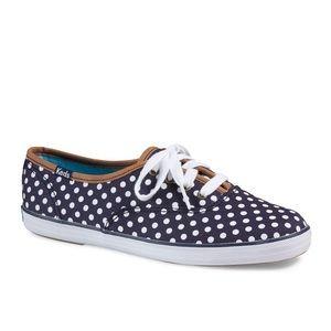Keds Champion Dot Sneakers Navy Blue Size 8.5